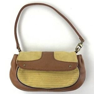 Cole Haan Tyler Small Suede and Leather Purse